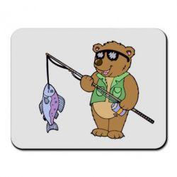 Коврик для мыши Медведь ловит рыбу - FatLine