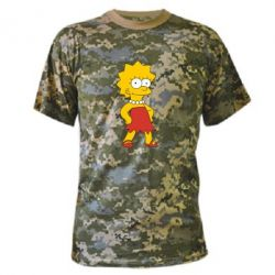 Камуфляжная футболка Мэгги Симпсон - FatLine