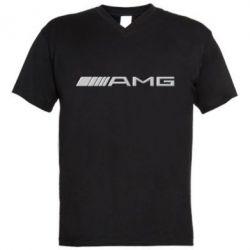 Мужская футболка  с V-образным вырезом Mercedes-AMG - FatLine