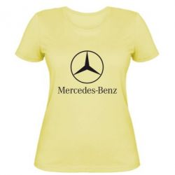 Женская футболка Mercedes Benz - FatLine
