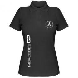 Женская футболка поло Mercedes GP Logo - FatLine