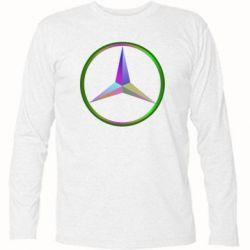 Футболка с длинным рукавом Mercedes Logo Art - FatLine