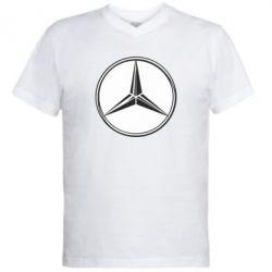 Мужская футболка  с V-образным вырезом Mercedes - FatLine