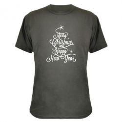 Камуфляжная футболка Merry Christmas and Happy New Year