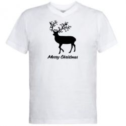 ������� ��������  � V-�������� ������� Merry Christmas Deer - FatLine