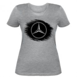 Женская футболка Мерседес арт, Mercedes art