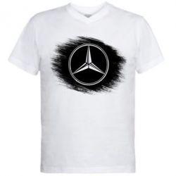 Мужская футболка  с V-образным вырезом Мерседес арт, Mercedes art