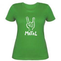 Женская футболка Metal - FatLine