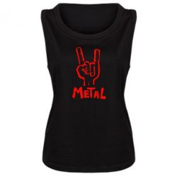 Женская майка Metal - FatLine