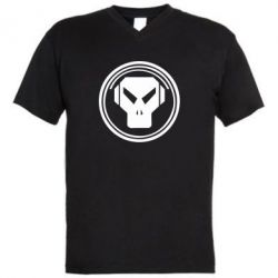 Мужская футболка  с V-образным вырезом metalheadz