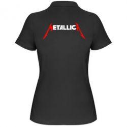 Женская футболка поло Металлика - FatLine