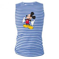 Майка-тельняшка Mickey Mouse - FatLine