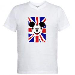 Мужская футболка  с V-образным вырезом Mickey Swag - FatLine