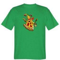 Мужская футболка Микеланджело кусок пиццы - FatLine