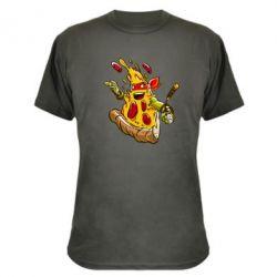 Камуфляжная футболка Микеланджело кусок пиццы - FatLine