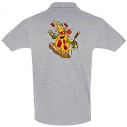 Футболка Поло Микеланджело кусок пиццы - FatLine