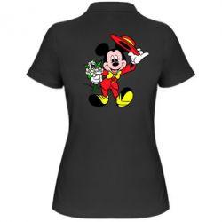 Женская футболка поло Микки Джентельмен - FatLine