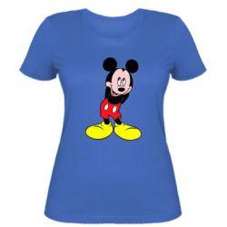 Женская футболка Микки Маус стесняется - FatLine