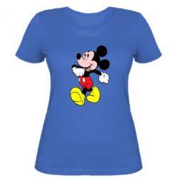 Женская футболка Микки шагает - FatLine