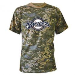 Камуфляжная футболка Milwaukee Brewers - FatLine