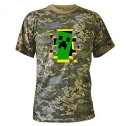 Камуфляжная футболка Minecraft 3D - FatLine