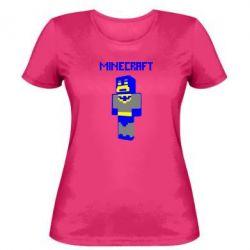 Женская футболка Minecraft Batman - FatLine