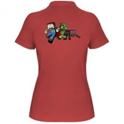 Женская футболка поло Minecraft Company - FatLine