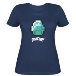 Женская футболка Minecraft Diamond!