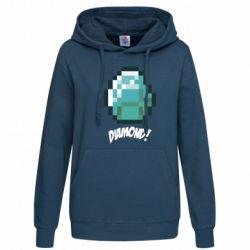 Женская толстовка Minecraft Diamond! - FatLine