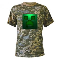 Камуфляжная футболка Minecraft Face - FatLine