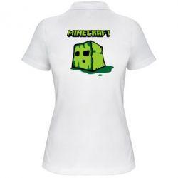 Женская футболка поло Minecraft Head - FatLine