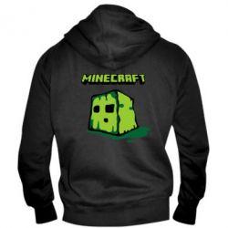 Мужская толстовка на молнии Minecraft Head - FatLine