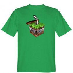 Мужская футболка Minecraft Logo Сube - FatLine