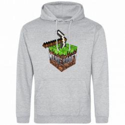 Мужская толстовка Minecraft Logo Сube