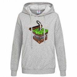 Женская толстовка Minecraft Logo Сube