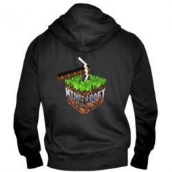 Мужская толстовка на молнии Minecraft Logo Сube