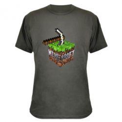 Камуфляжная футболка Minecraft Logo Сube - FatLine