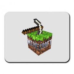 Коврик для мыши Minecraft Logo Сube