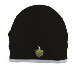 Шапка Minecraft Logo Сube - FatLine