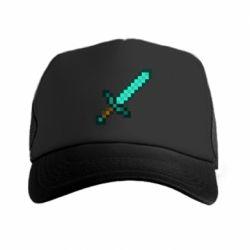 Кепка-тракер Minecraft меч - FatLine