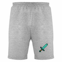 Мужские шорты Minecraft меч - FatLine