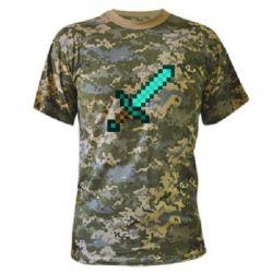 Камуфляжная футболка Minecraft меч - FatLine