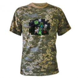 Камуфляжная футболка Minecraft Party - FatLine