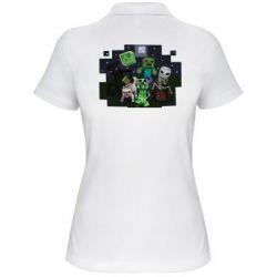 Женская футболка поло Minecraft Party - FatLine