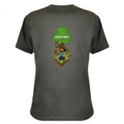 Камуфляжная футболка Minecraft Steve - FatLine