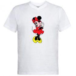 """Мужская футболка  с V-образным вырезом Минни """"Мимими"""" - FatLine"""