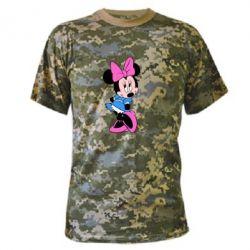 Камуфляжная футболка Минни стесняется - FatLine