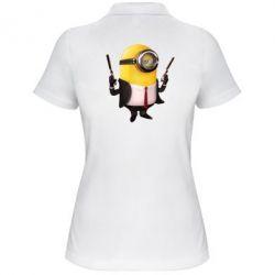 Женская футболка поло Миньон Хитман