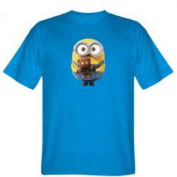 Мужская футболка Миньон с мишкой - FatLine
