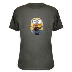 Камуфляжная футболка Миньон с мишкой